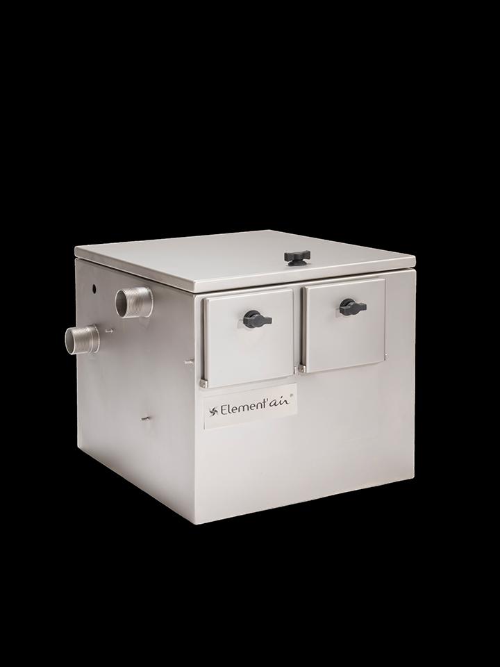 BAG® est le bac à graisse compact destiné au prétraitement des eaux usées